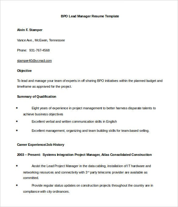 Resume Templates Word Free Download Resume Format Free Download