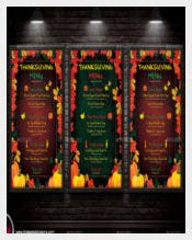 Thanksgiving Menu Template Vector EPS Download