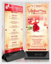 Valentines Menu Special Dinner Promotion Template