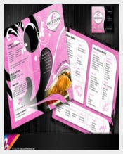 Catering Menu Design Set Template