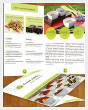 Gourmet Food Catering Menu and Template