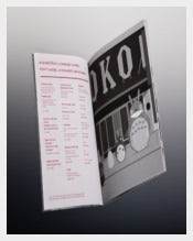 BIO OKO Drink Menu Template