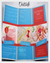 Ice Cream Food Menu Template