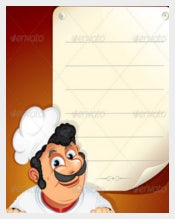 Chef wih Blank Menu Template