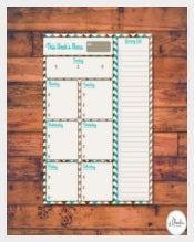 Printable Menu Planner Instant Download