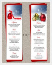 DIY Printable Holiday Dinner Chrishtmas Party Menu Template Download