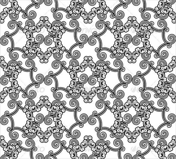 floral black and white patterns