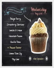 Chalkboard Menu Template Download