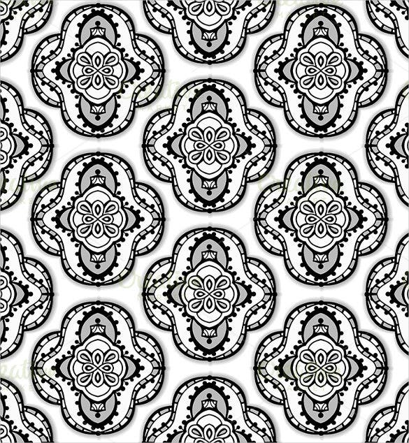 arabic black and white pattern