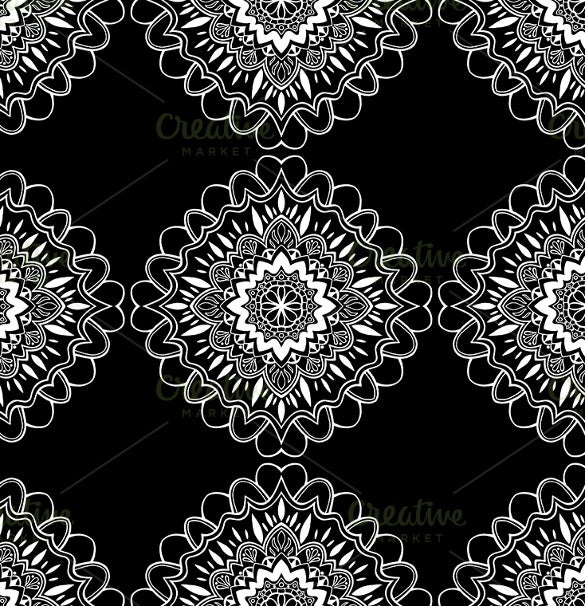 decorative black and white pattern