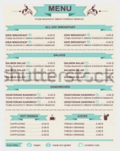 Cafe Lunch Menu Template