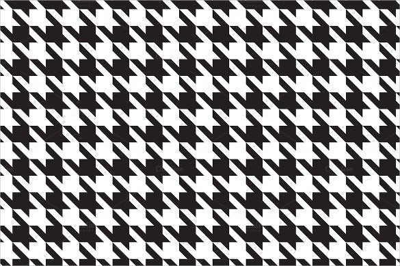 houndstooth black and white pattern