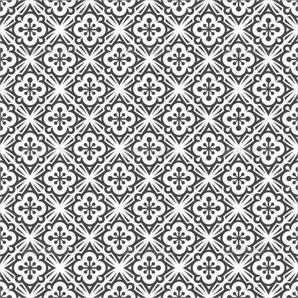 ornamental black and white pattern