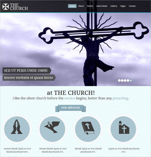 church christianity responsive non profit blog template 19
