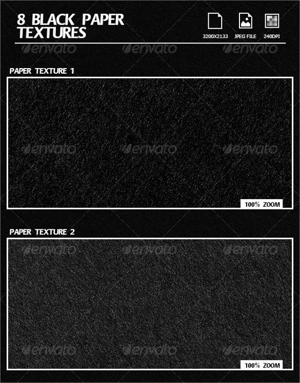 8 beautiful black paper texture set download