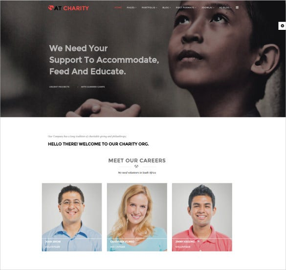 online charity joomla blog template 19