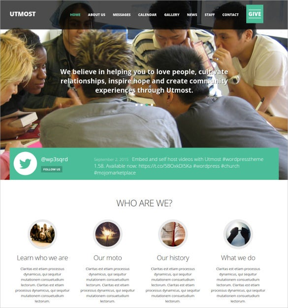 multimedia church non profit charity blog wordpress theme 49