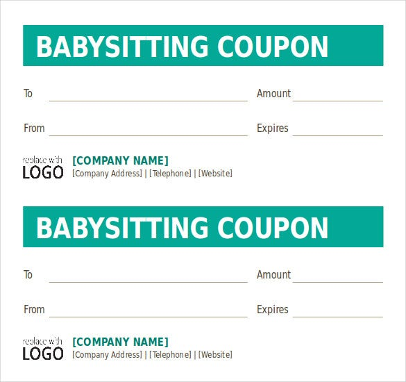 babysitting coupon book