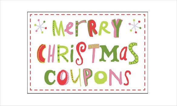 Word Format Christmas Coupon Template. Free Download  Free Coupon Template