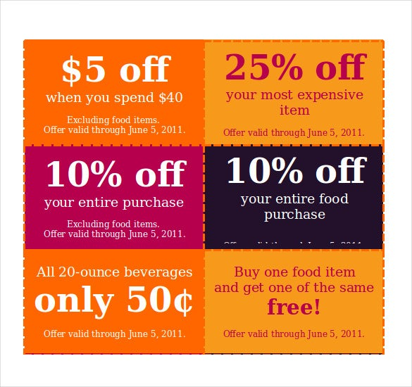 Nice Discount Coupon Template In Word Format Regard To Discount Coupons Templates