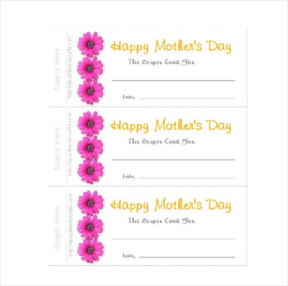 mother day coupon template