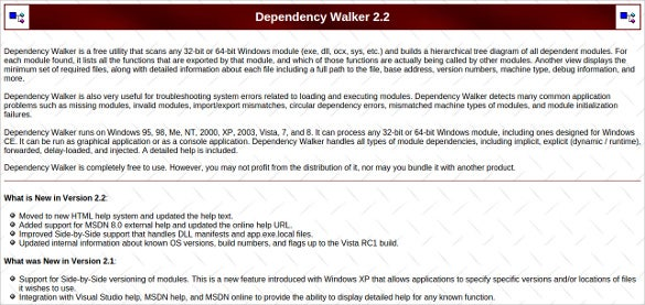 dependency walker malware analysis tool free download