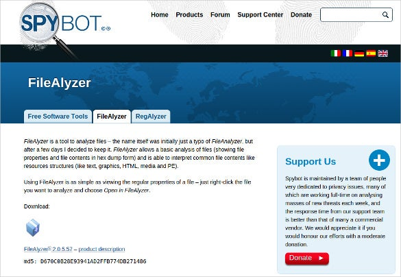 filealyzer malware analysis tool for free