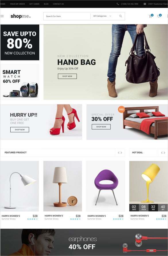 jewelry ecommerce psd template1