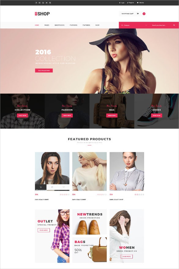 e commerce jewelry psd template