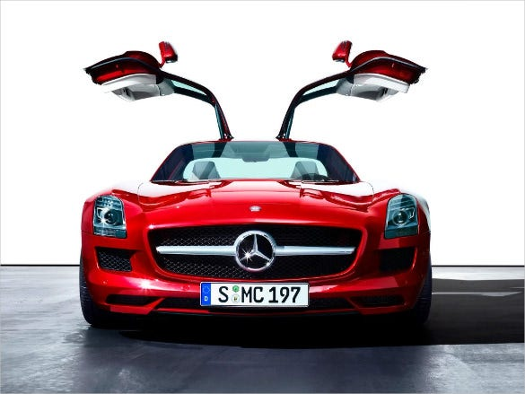 red mercedes car wallpaper