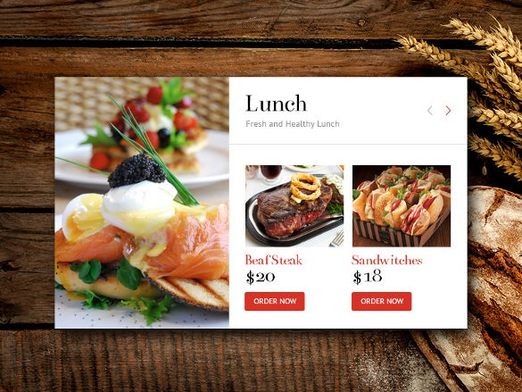 example lunch menu template1
