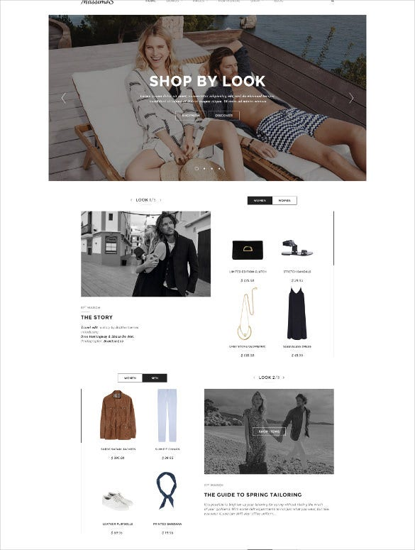 jewelry responsive ecommerce psd template