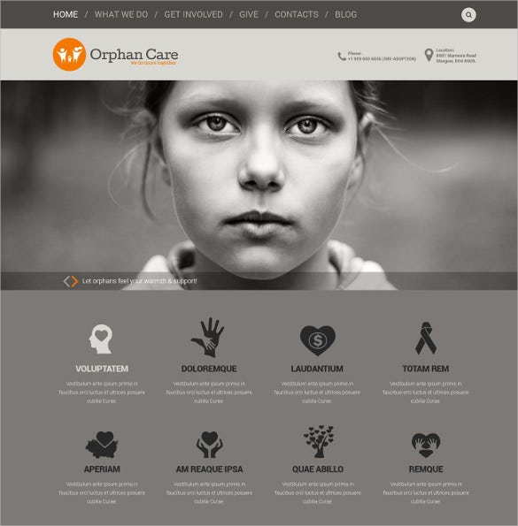 charity organization non profit html5 wordpress theme 75