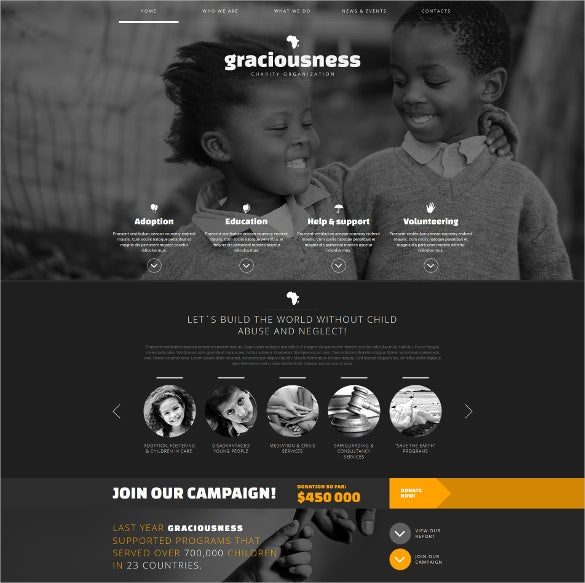 child charity responsive non profit html5 joomla template 75