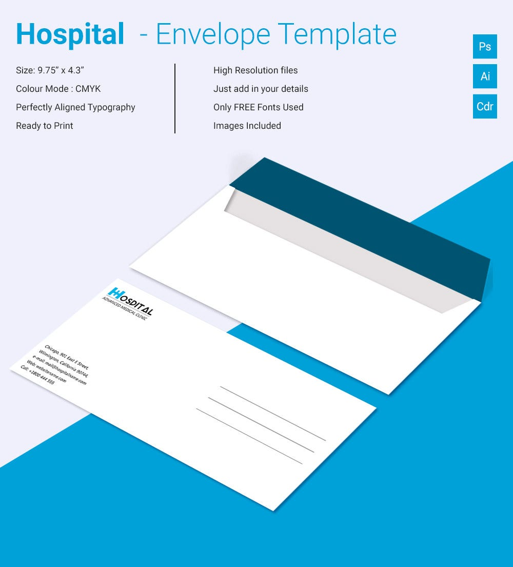striking hospital envelope template download free