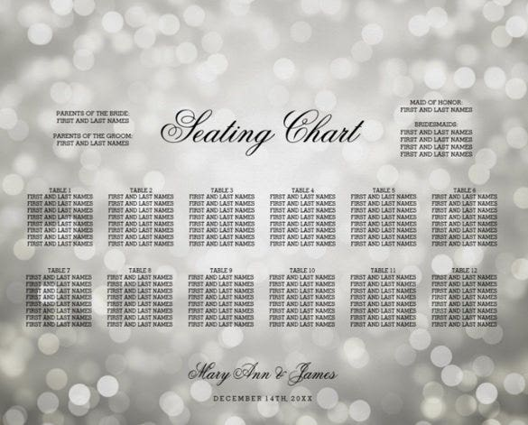 professional wedding chart template download