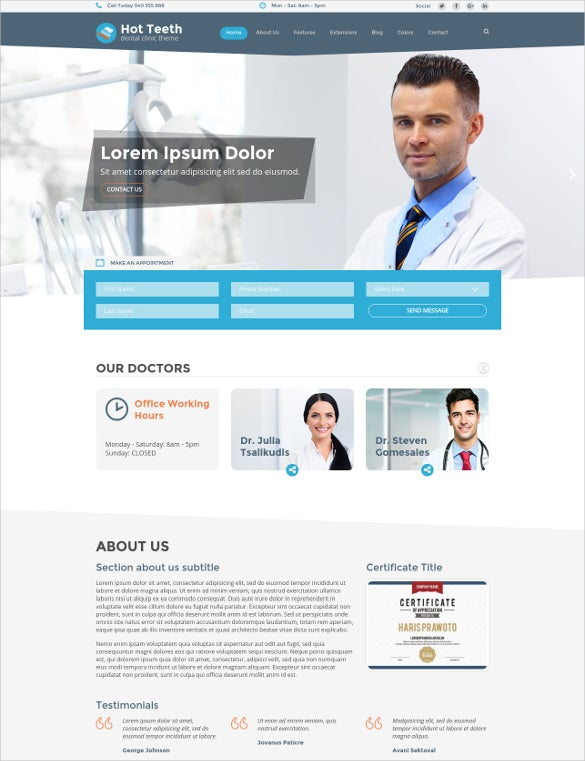 hot teeth joomla template