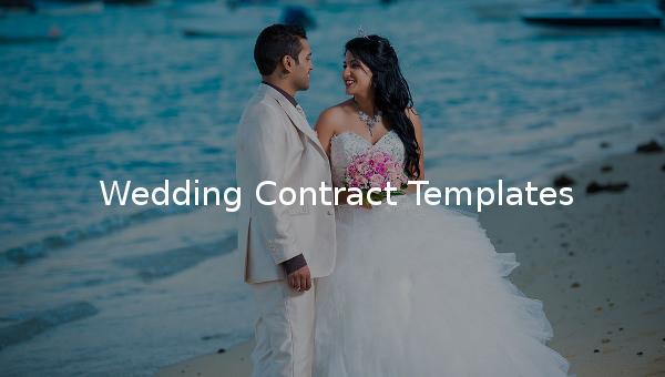 wedding contracttemplate