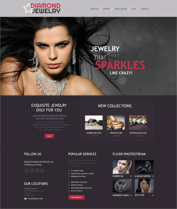 diamond jewelry wordpress theme