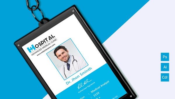 hospital identity card template download