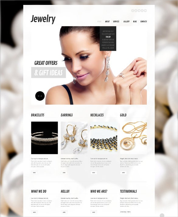 beautiful bride jewelry wordpress theme