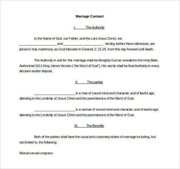 easy to edit mwedding contract template free download