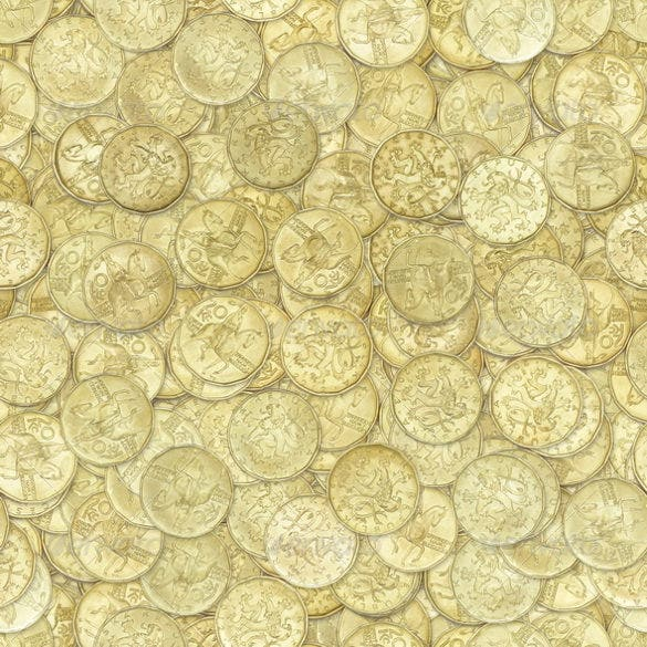 golden coins seamless texture
