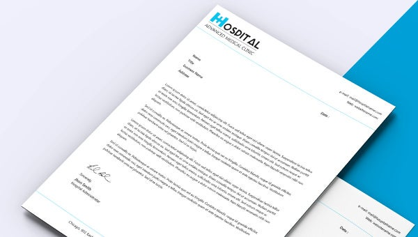 hospital letterhead template download