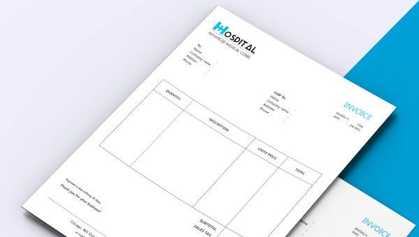 hospital invoice template download