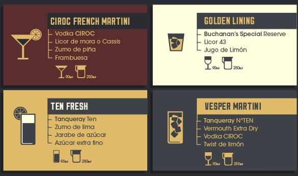 example cocktail menu template