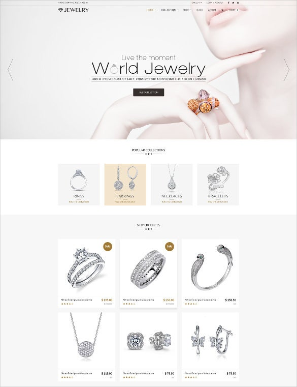 jewelry responsive shopify wordpress theme1