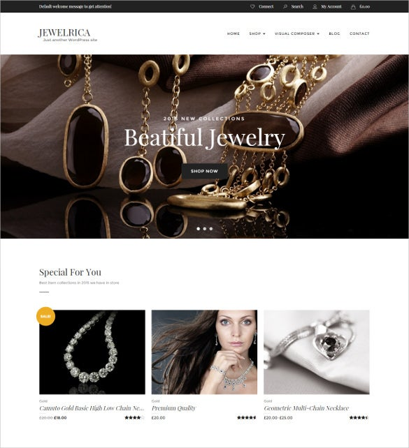 jewelry ecommerce wordpress theme