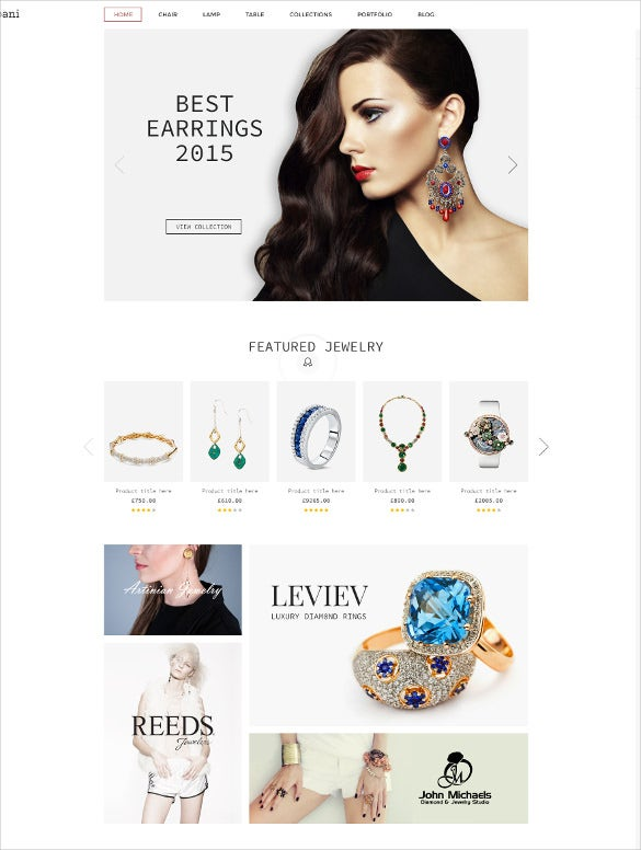 multi purpose jewelry ecommerce html website template