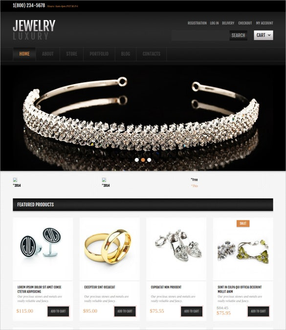 jewelry jigoshop free wordpress theme
